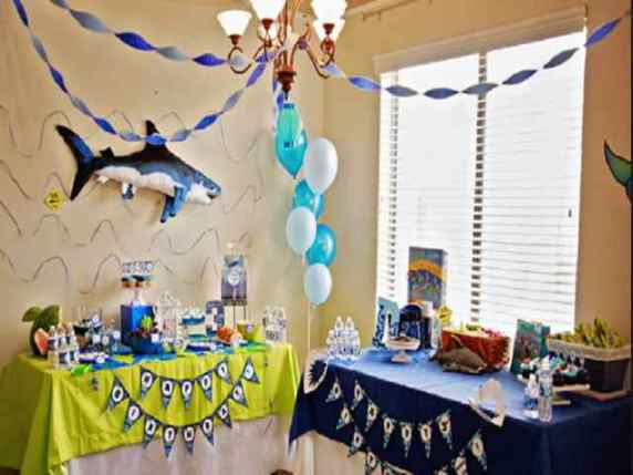 festa tema squalo