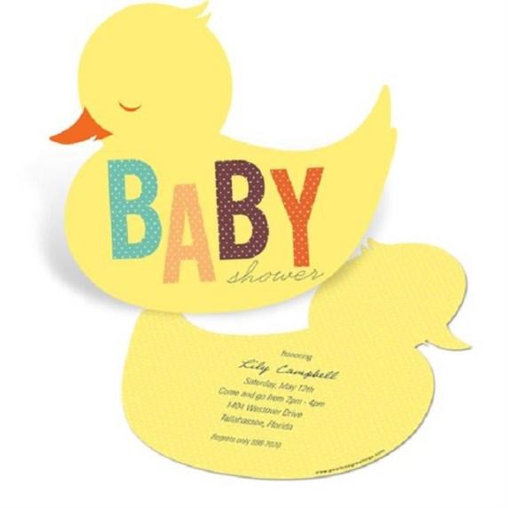 baby shower invito con pulcino