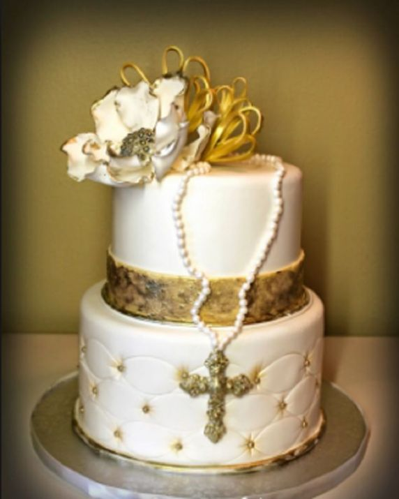 Torte prima comunione in pasta da zucchero 20 idee con for Decorazioni torte per cresima