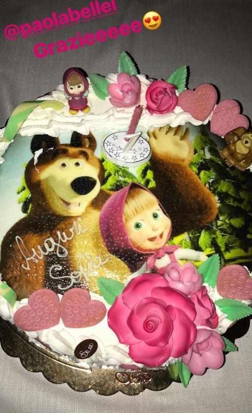 torta compleanno figlia federica nargi