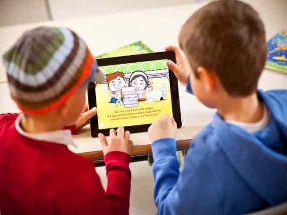 insegnare inglese ai bambini tablet
