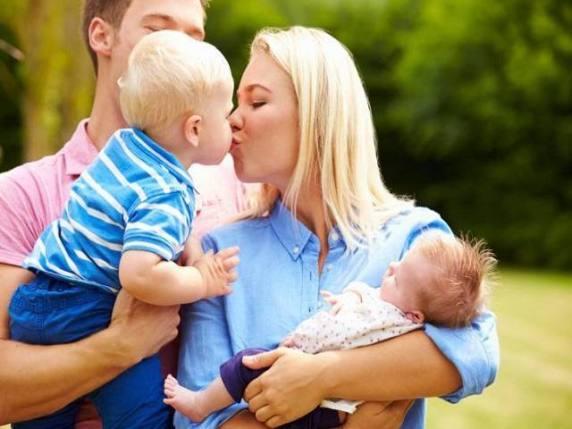 bacio figli