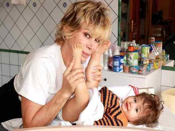 Carmen russo e la figlia maria