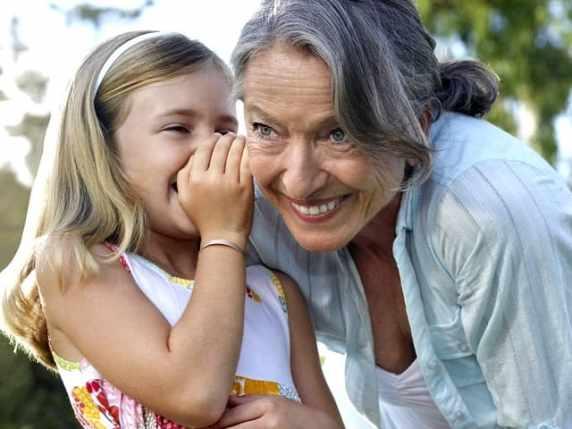 foto nonna e nipote