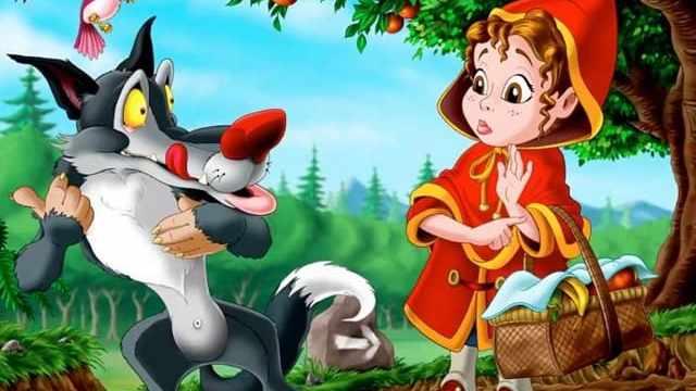 foto lupo e cappuccetto rosso