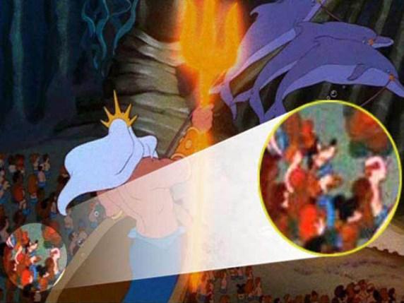 foto topolino paperino pippo nel film la sirenetta