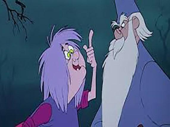 Foto Maga Mago e Mago Merlino spada nella roccia favola per bambini