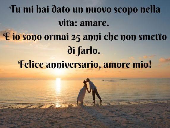Frasi D Auguri 25 Anniversario Di Matrimonio.Frasi Belle 25 Anni Matrimonio