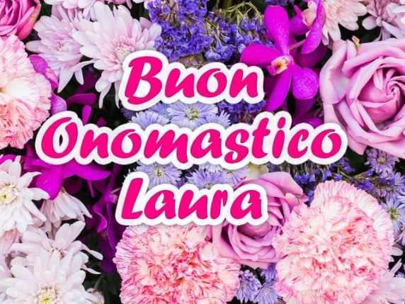 Immagini auguri buon onomastico Laura