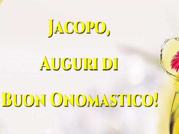 Foto tanti auguri onomastico Jacopo