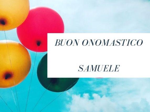 onomastico samuele immagini