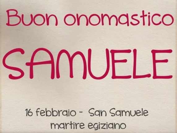 onomastico samuele storia santo