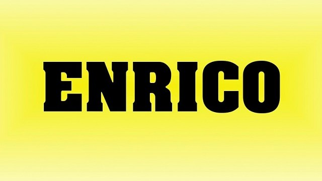 Significato nome Enrico