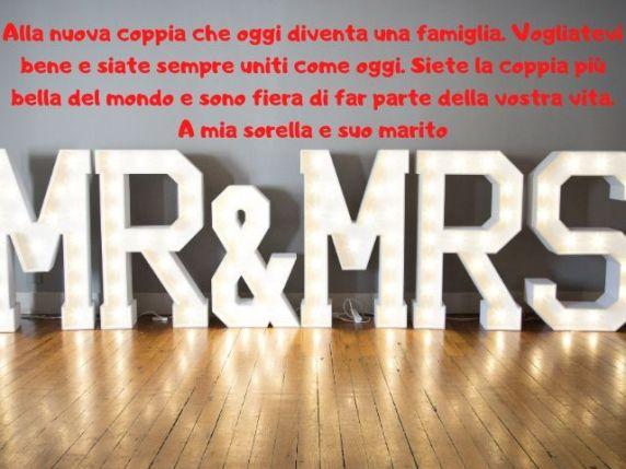 lettera a una sorella matrimonio