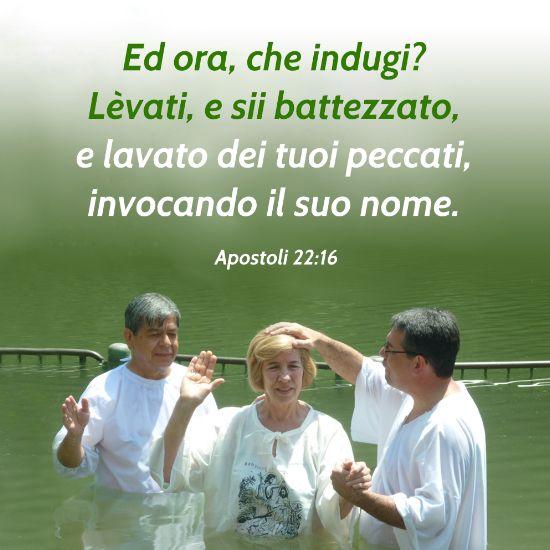 frase battesimo