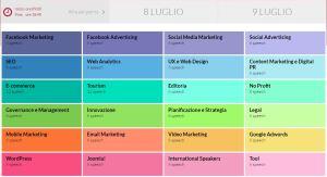 Clicca per ingrandire: sale tematiche web marketing festival