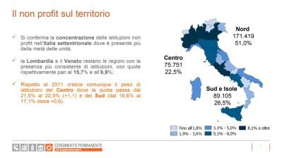 Censimento-Istituzioni-non-profit-2017-slide07 Ripartizione sul territorio