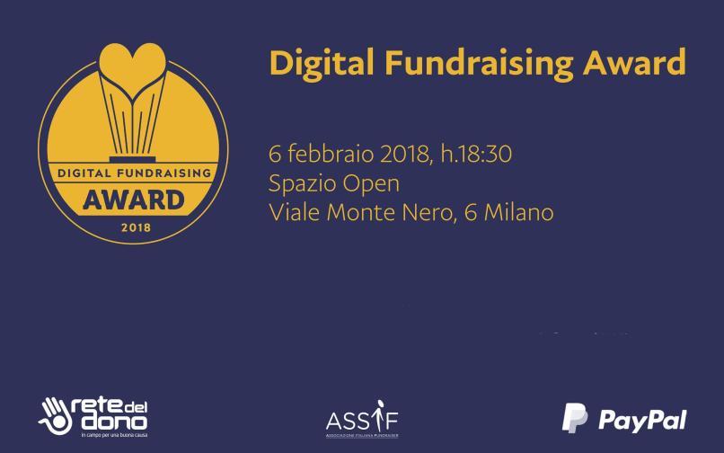 Digital Fundraising Awards - 06 Febbraio 2018