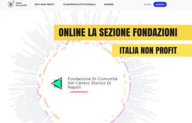 Online la sezione dedicata alle Fondazioni italiane su Italia Non Profit
