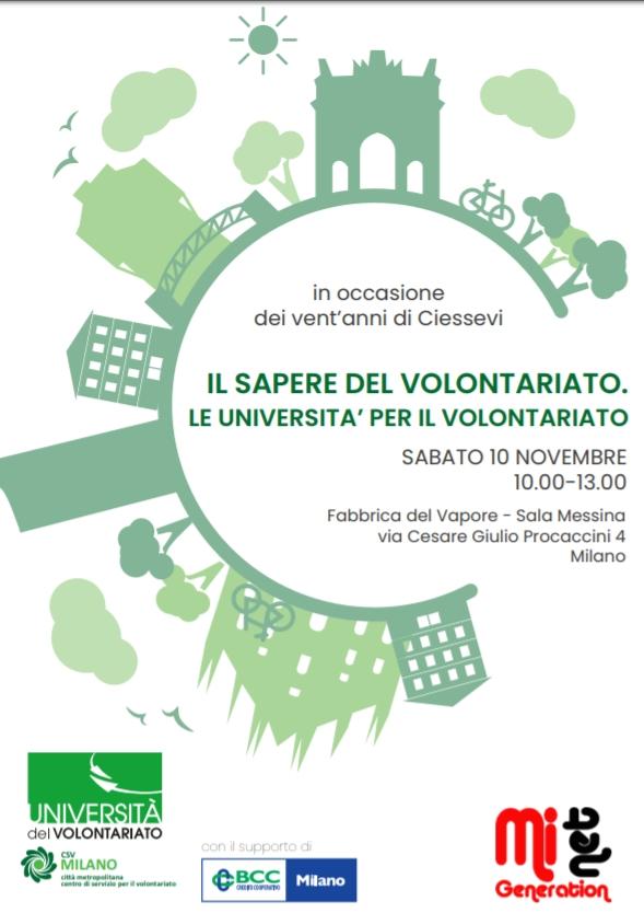 Università milanesi a confronto sugli apprendimenti nel volontariato