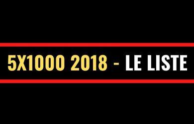 5x1000 2018 le liste