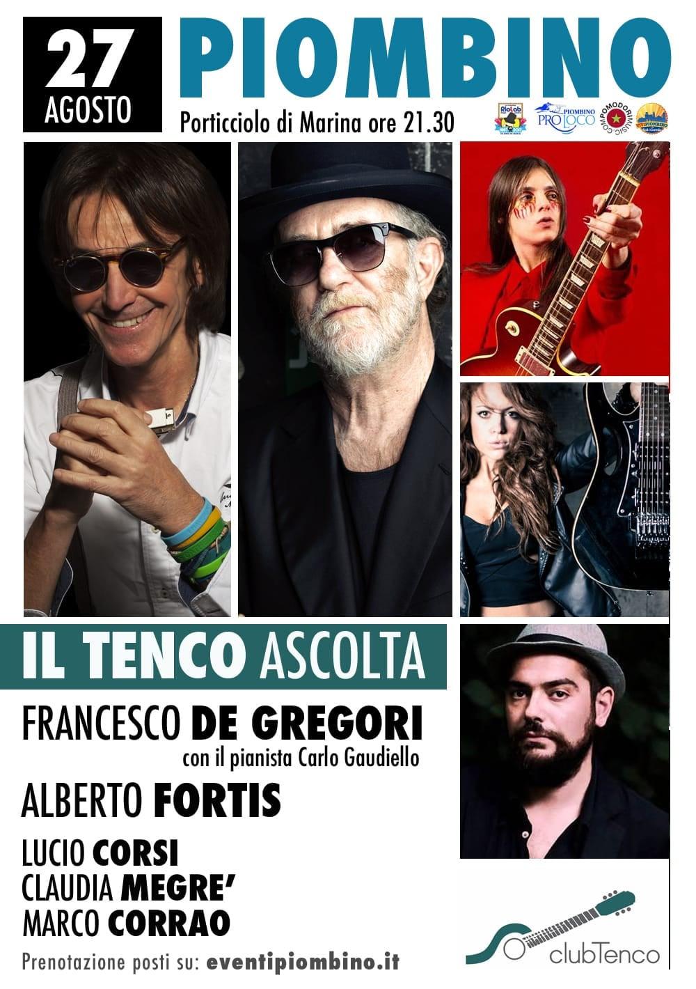 Il Tenco Ascolta porta sul palco Francesco De Gregori e Alberto Fortis.