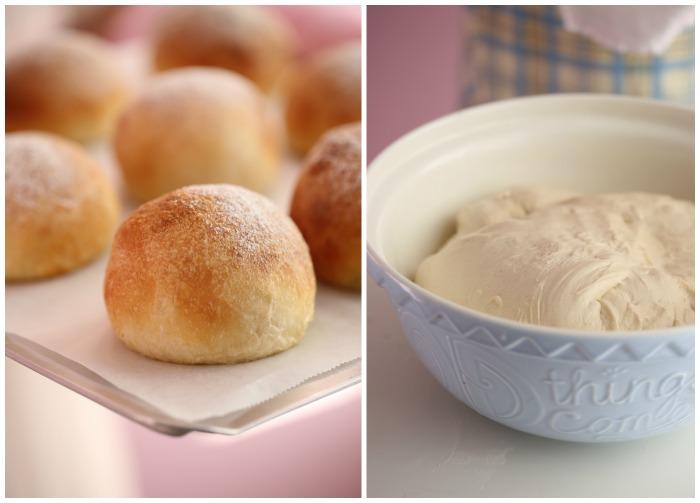 soft white buns