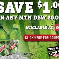 Kitchen Aid Coupons White Undermount Sink Mtn. Dew Coupon | Save $1/1 20 Oz. Mountain Product