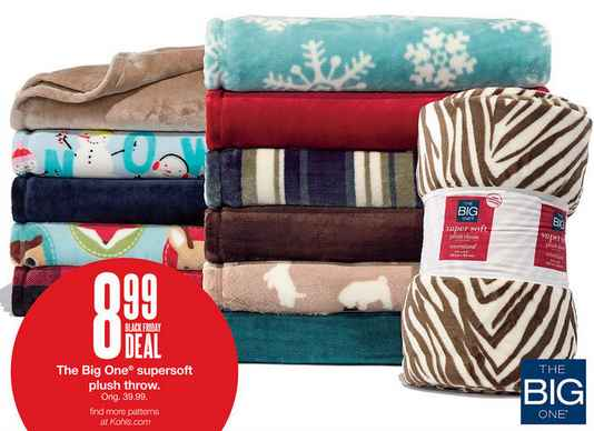 Kohls Big Ones Supersoft Throws 549 each Great Gift Idea
