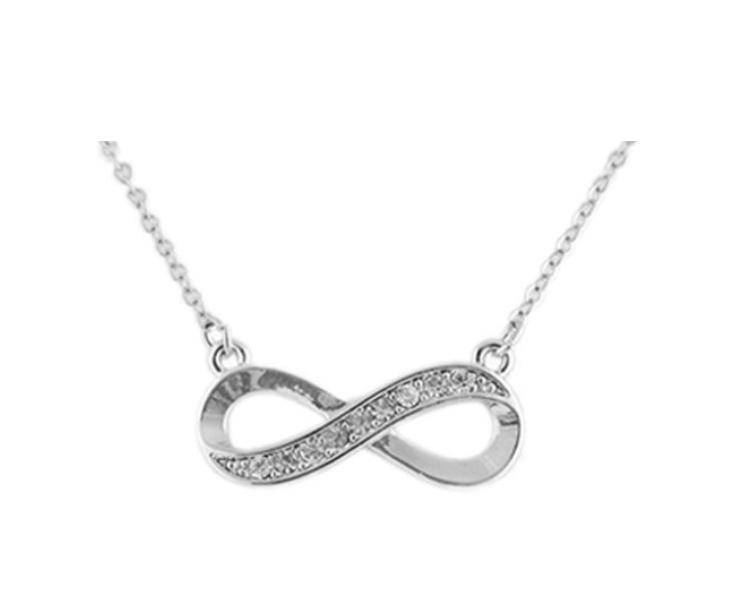 Silver Infinity Necklace just $5.90 Shipped!