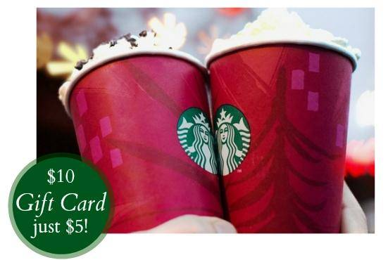 Starbucks Groupon Gift Card Deal 10 Gift Cards For 5