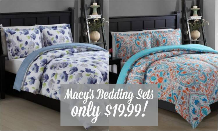 3 Piece Macy's Comforter Sets just $19.99 (Including KING