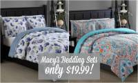 3 Piece Macy's Comforter Sets just $19.99 (Including KING ...