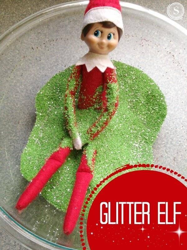 Elf On The Shelf Idea Glitter Elf