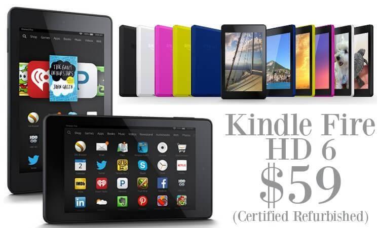 Refurbished Kindle Fire HD 6 Tablet Sale Best Price