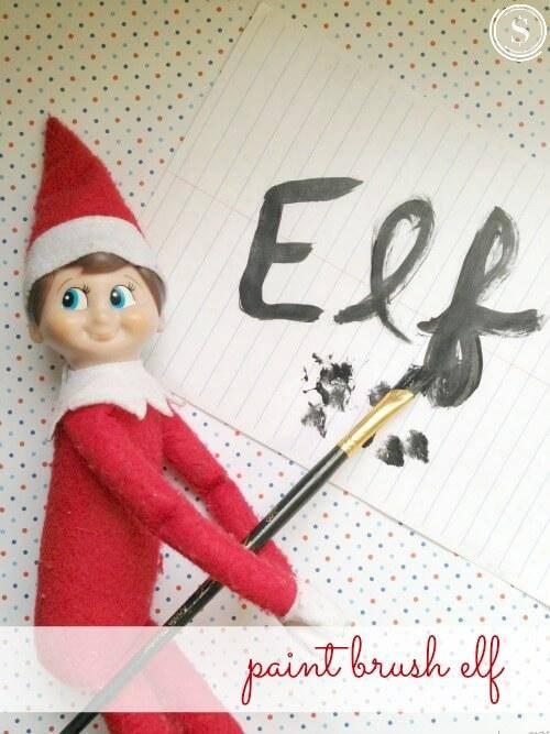 Elf On The Shelf Idea Paint Brush Elf