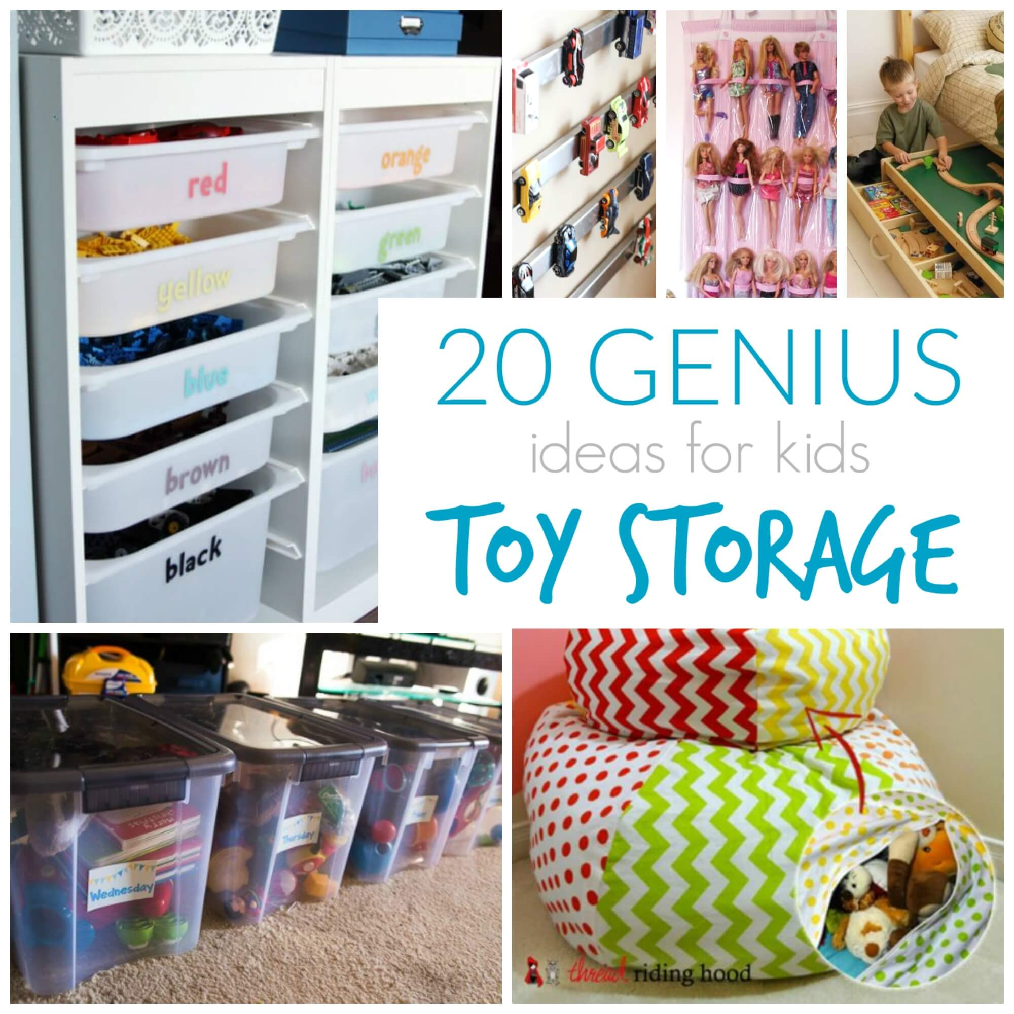 20 Genius Toy Storage Ideas for Kids Rooms