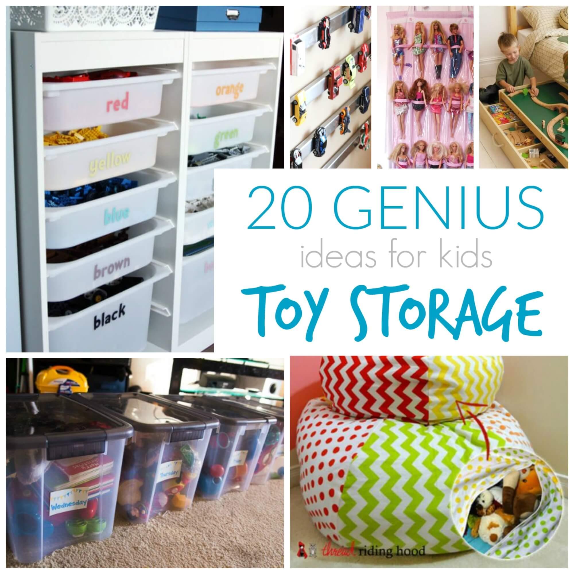 20 Genius Toy Storage Ideas For Kids Rooms