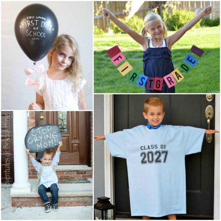 First Day of School Photo Ideas 2
