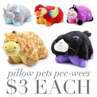 Pillow Pets Pee-Wees only $3 + Free Shipping!