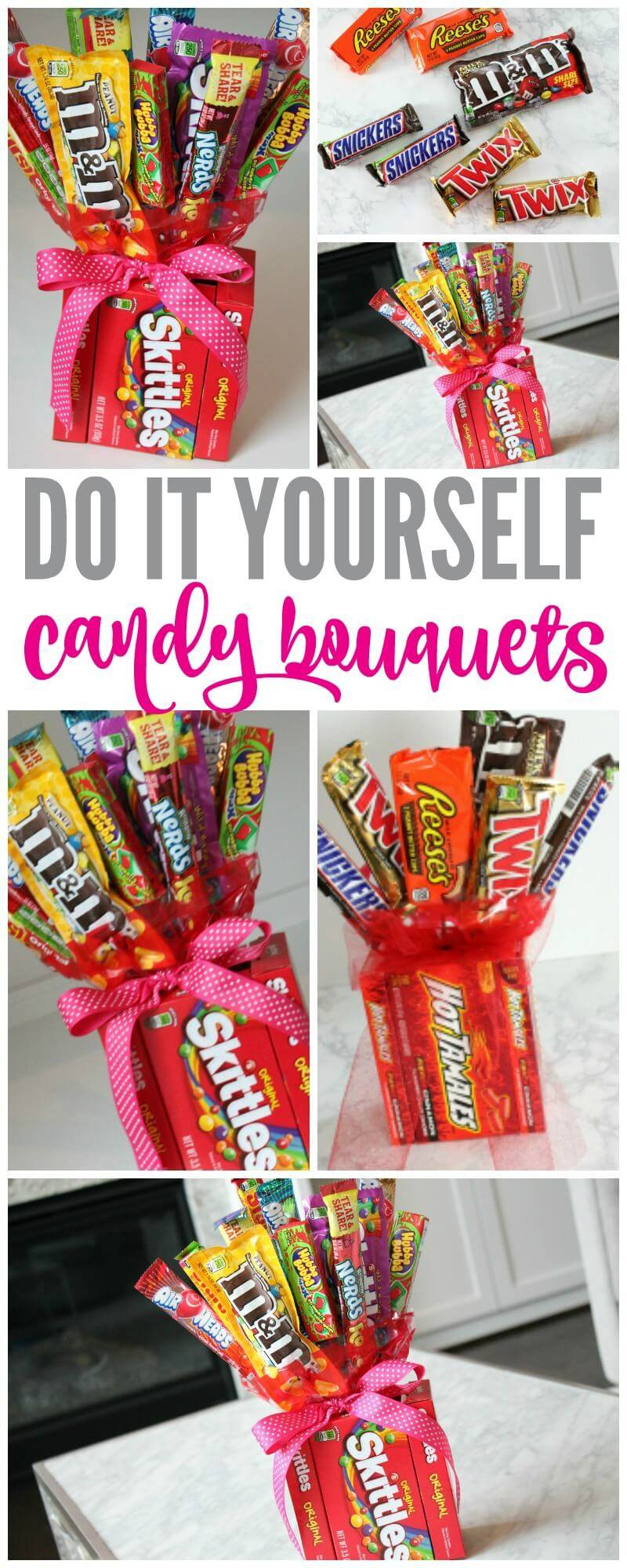 DIY Candy Bouquets for Valentines Day Birthdays  More