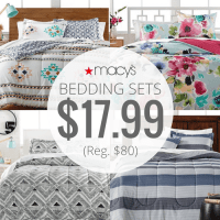 Macy's 3 Piece Bed-In-Bag Bedding Sets only $17.99!