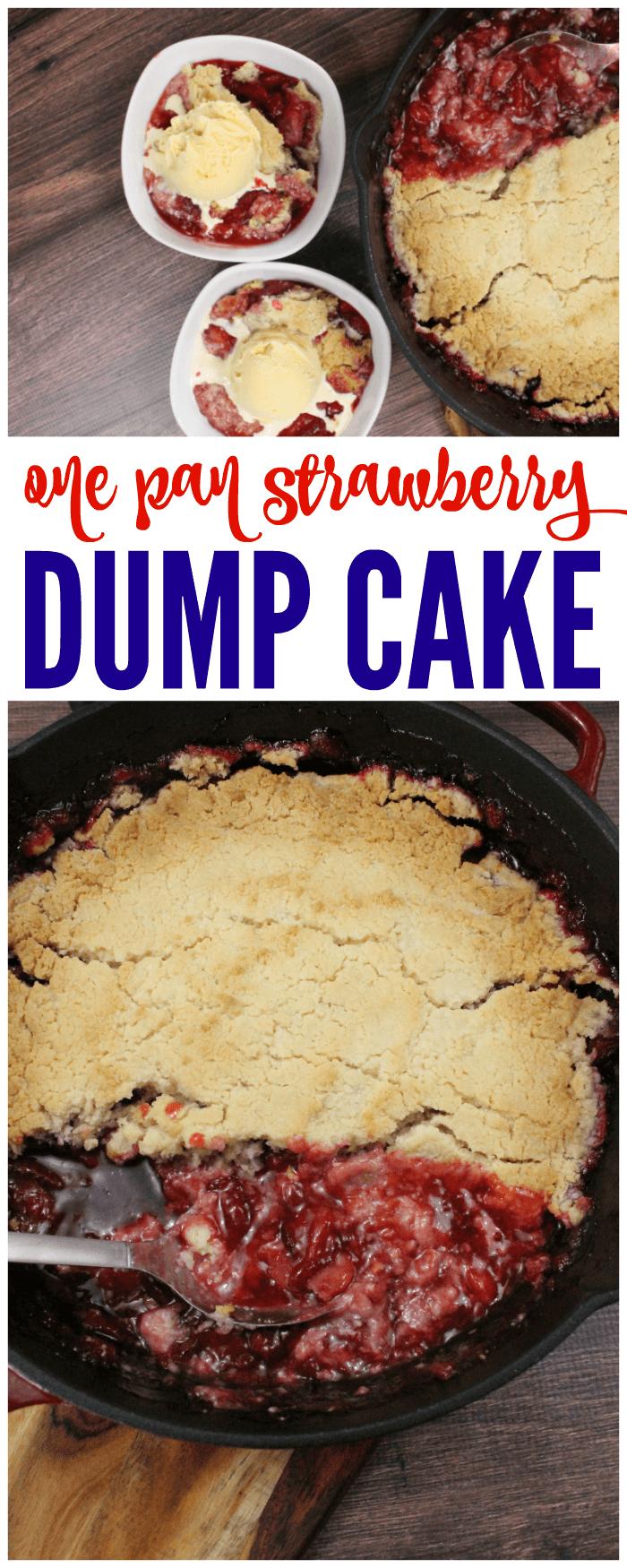 One Pan Strawberry Dump Cake Recipe