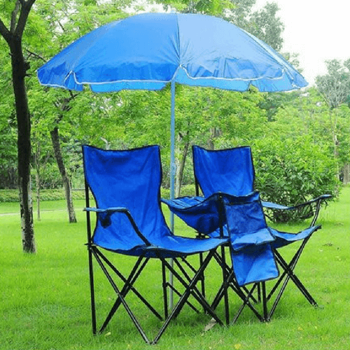 2 Person Folding Chairs Set w Umbrella just 3599