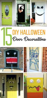 15 DIY Halloween Door Decorations for Home or Classrooms!