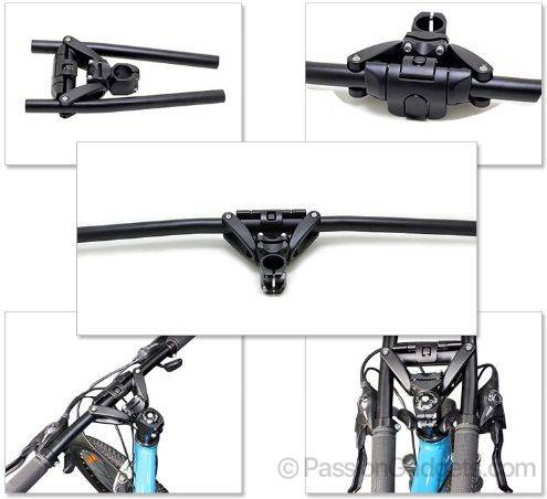 XTASY Foldable V Handle Bar+ Clamp for Scooter/Bike by HUMPERC