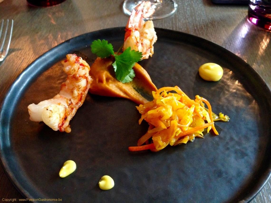 Brinzl, restaurant à Uccle - Gambas