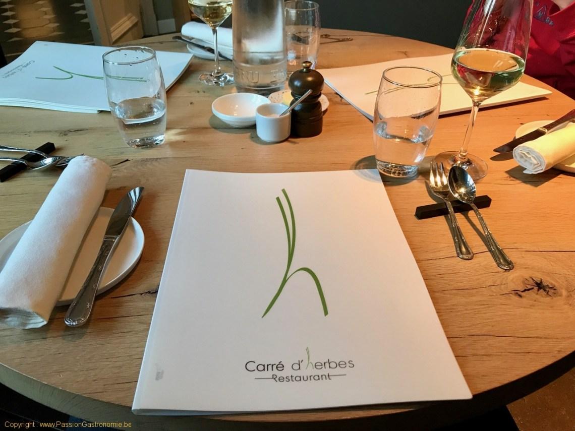 Restaurant Le Carré d'herbes - La table