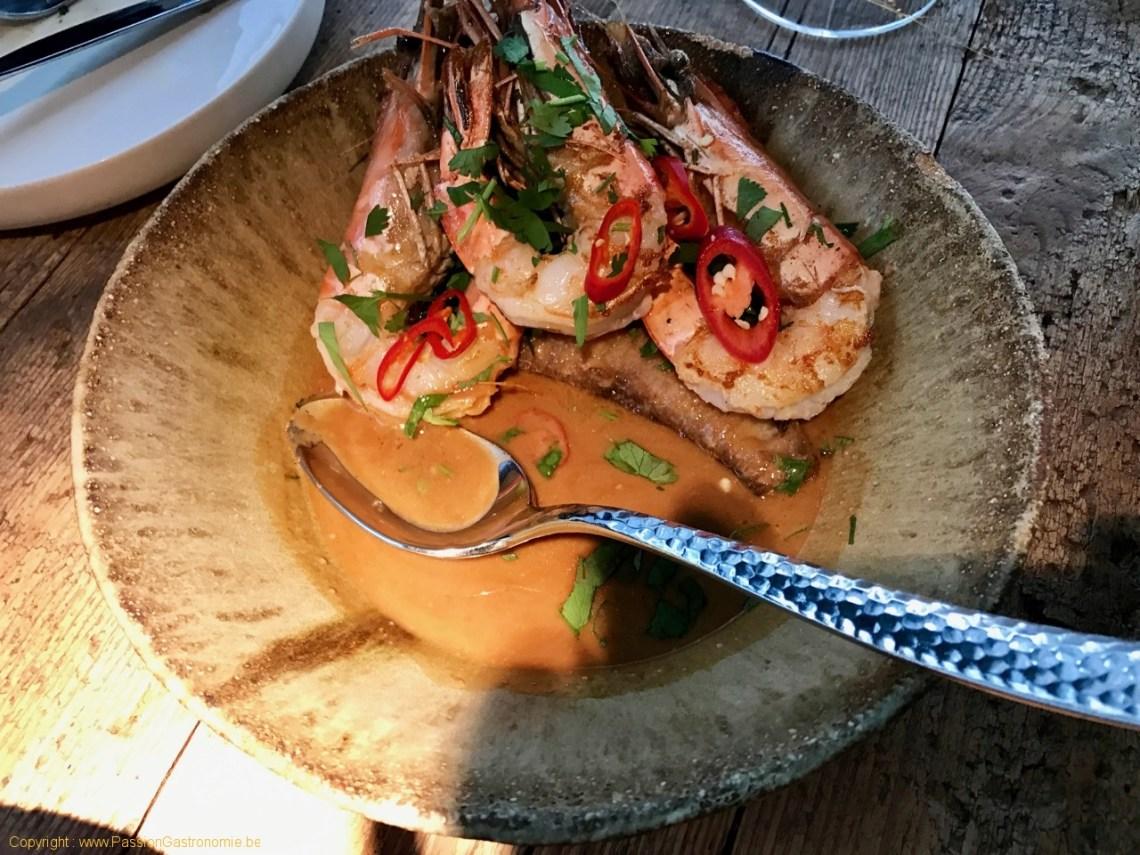 Restaurant Humphrey à Bruxelles - Crevette Saba