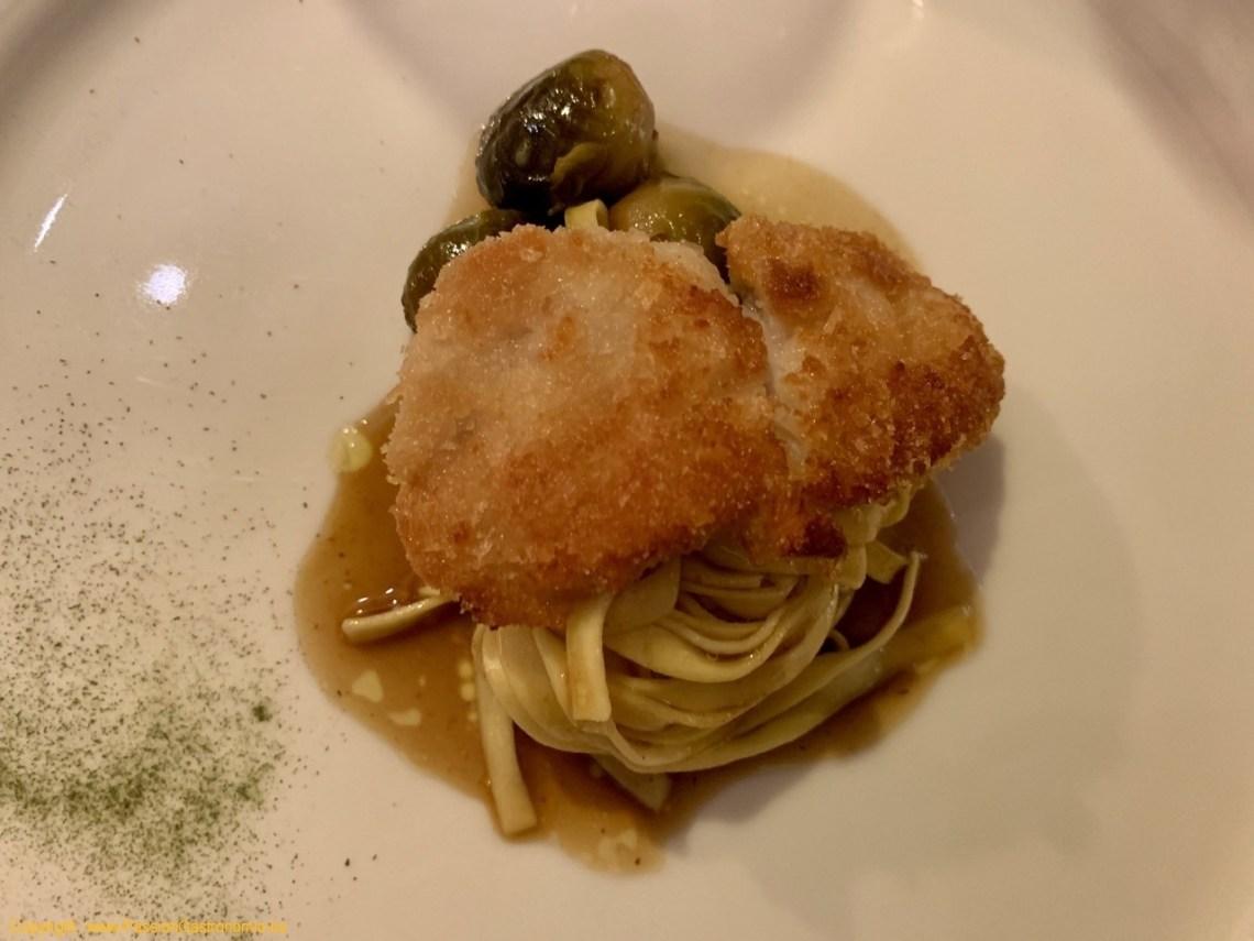 Restaurant Le Fou est Belge - Ris de veau poêlé, choux de Bruxelles